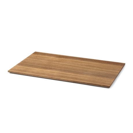 Ferm Living Feuille pour Plantenbox Large placage chêne fumé 57,5x35x1,3cm