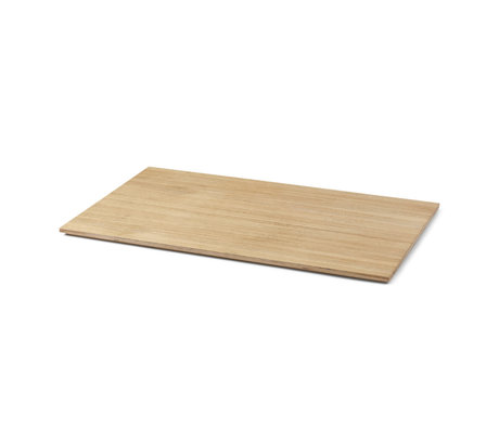 Ferm Living Feuille pour Plantenbox Large placage chêne naturel 57,5x35x1,3cm