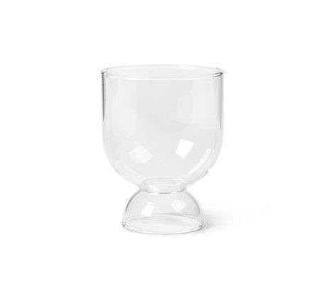 Ferm Living Glass Still Set aus zwei transparenten mundgeblasenen Gläsern Ø7.7x9.5cm