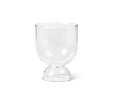 Ferm Living Glass Still set of two transparent mouth-blown glass Ø7.7x9.5cm