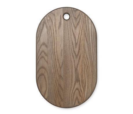 Ferm Living Plateau Large Large en bois de frêne laqué 27x44x1,5cm