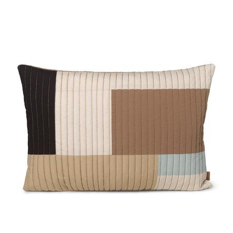 Ferm Living Pillow Shay sand brown cotton 60x40cm