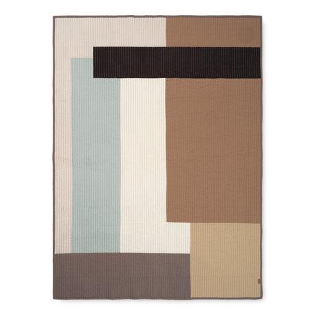 Ferm Living Tapisserie Shay sandbrauner Baumwolle 130x180cm