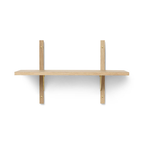 Ferm Living Wall rack Sector S / S natural brass plywood 54x22.1x34cm