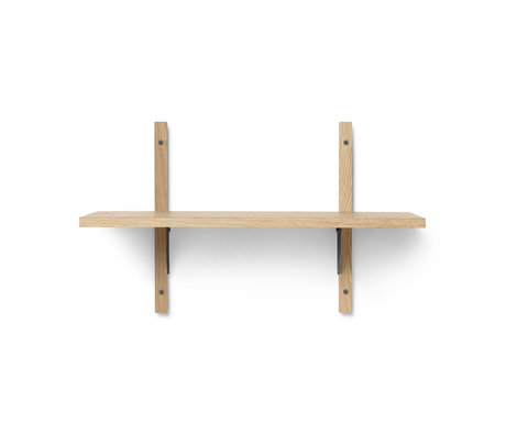 Ferm Living Wall rack Sector S / S natural black brass plywood 54x22.1x34cm
