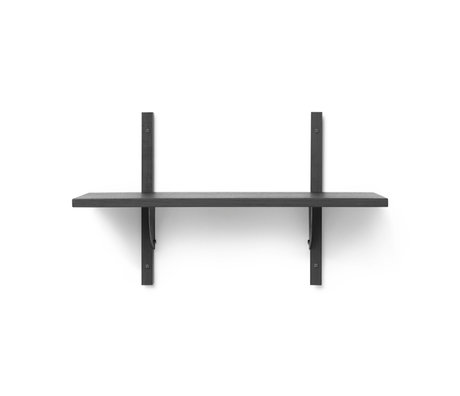 Ferm Living Wall rack Sector S / S dark gray black brass plywood 54x22.1x34cm