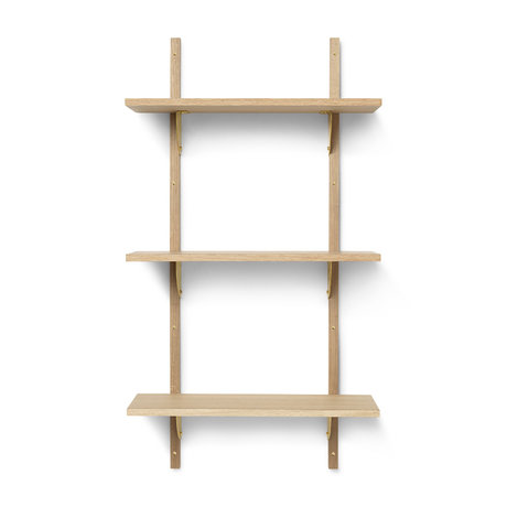 Ferm Living Wall rack Sector S / L natural brass plywood 54x22.1x102cm