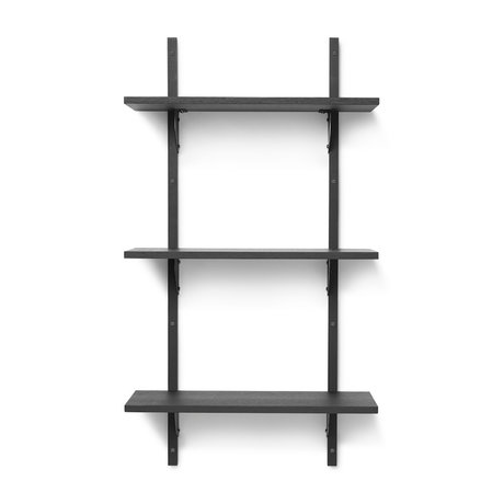 Ferm Living Wandregal Sector S / L dunkelgrau schwarz Messing Sperrholz 54x22.1x102cm