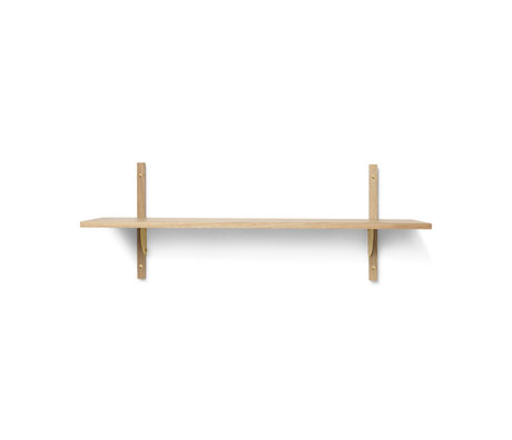 Ferm Living Wall rack Sector L / S natural brass plywood 87x26.1x34cm