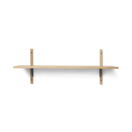Ferm Living Wall rack Sector L / S natural black brass plywood 87x26.1x34cm