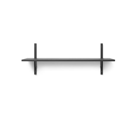 Ferm Living Wall rack Sector L / S dark gray black brass plywood 87x26.1x34cm