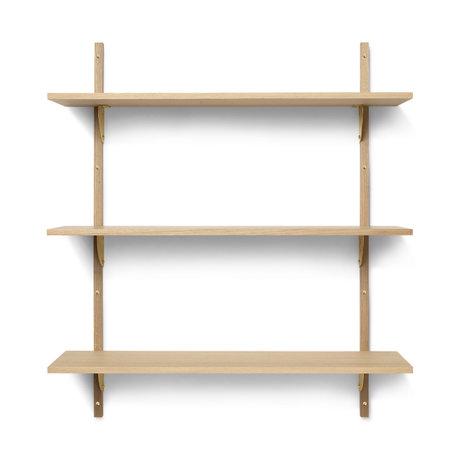 Ferm Living Wall rack Sector L/L oak brass 87x26,1x102cm