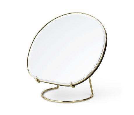 Ferm Living Miroir de table étang laiton 20x16x21 cm