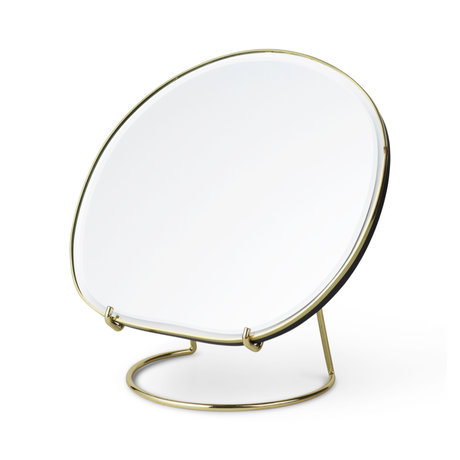 Ferm Living Table mirror Pond brass 20x16x21 cm