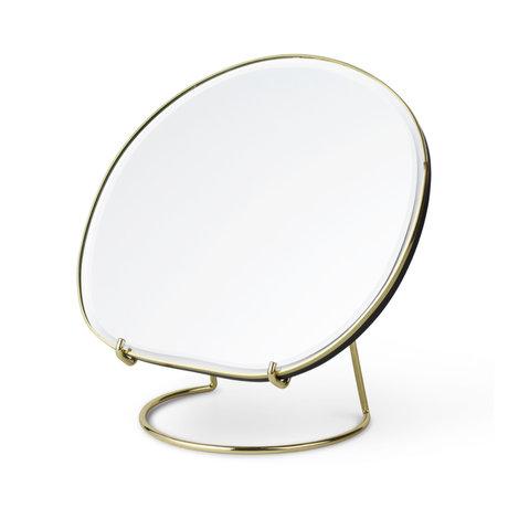 Ferm Living Tischspiegel Teich Messing 20x16x21 cm