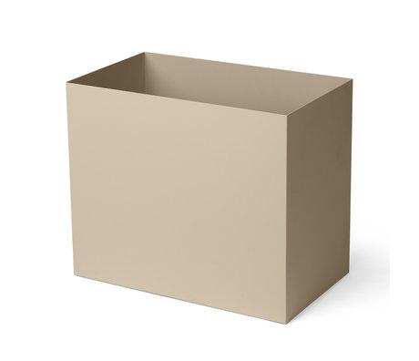 Ferm Living Plant box Pot Large cashmere beige powder-coated metal 19.5x33x27.7cm