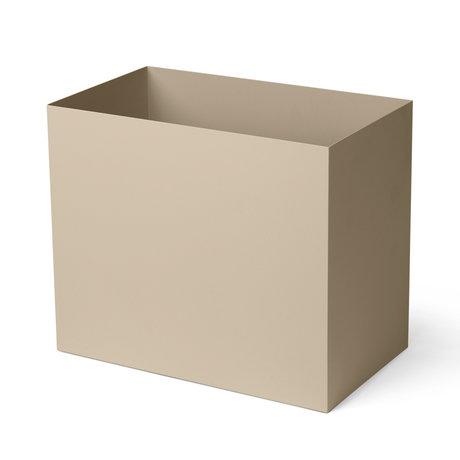 Ferm Living Cache-pot Pot Large cachemire beige métal poudré 19,5x33x27,7cm