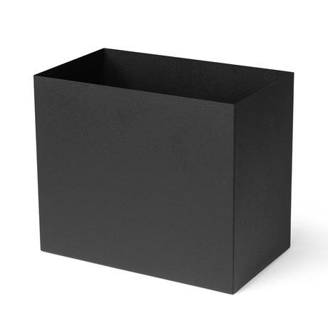 Ferm Living Plantenbox Pot Large zwart gepoedercoat metaal 19,5x33x27,7cm