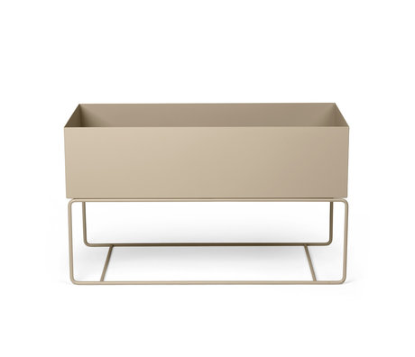 Ferm Living Plant box Large cashmere beige powder-coated metal 77x34x45cm
