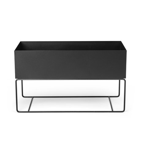 Ferm Living Plant box Large black powder coated metal 77x34x45cm