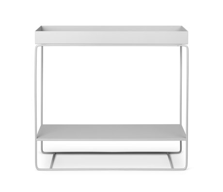 Ferm Living Plant box Two-Tier light gray powder coated metal 25x80x75cm