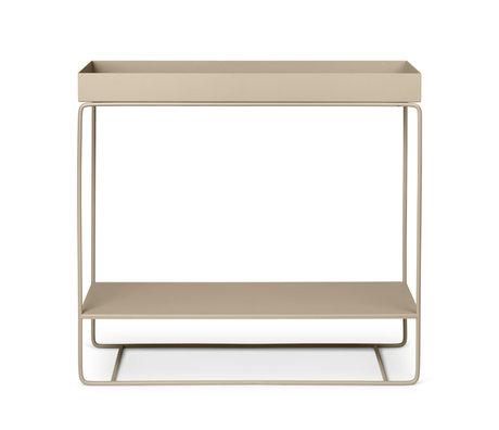 Ferm Living Plant box Two-Tier cashmere beige powder-coated metal 25x80x75cm