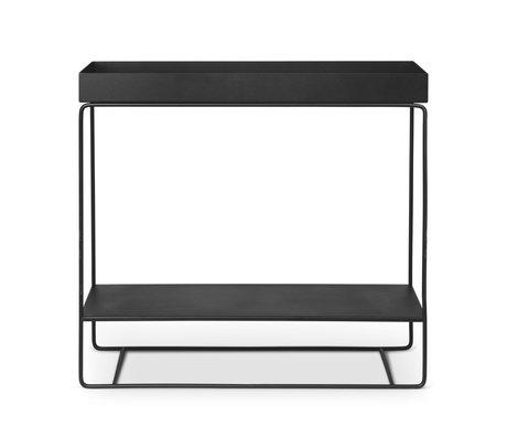 Ferm Living Plantenbox Two-Tier zwart gepoedercoat metaal 25x80x75cm