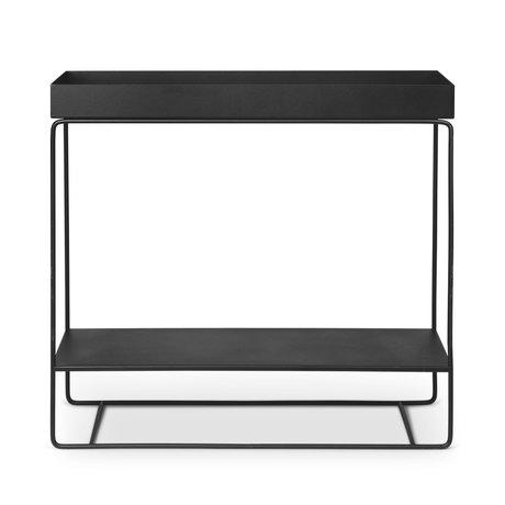 Ferm Living Pflanzbox Zweistufig schwarz pulverbeschichtetes Metall 25x80x75cm