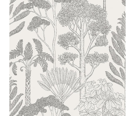 Ferm Living Wallpaper Katie Scott trees off-white 10x0.53m