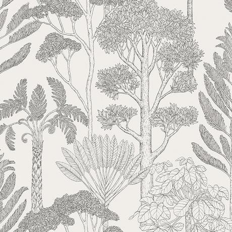 Ferm Living Wallpaper Katie Scott Bäume cremefarben 10x0.53m