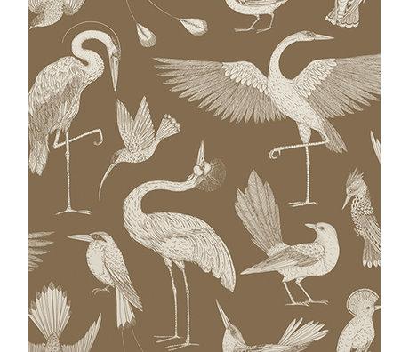 Ferm Living Wallpaper Katie Scott Vögel braun 10x0.53m