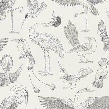Ferm Living Behang Katie Scott vogels gebroken wit 10x0,53m