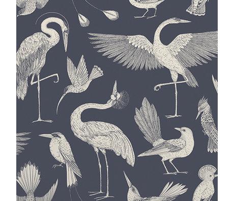 Ferm Living Wallpaper Katie Scott Vögel dunkelblau 10x0.53m