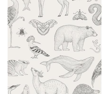 Ferm Living Wallpaper katie scott tiere elfenbeinfarben 10x0.53m