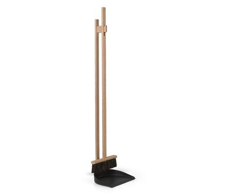 Ferm Living Broom set Icon natural beech wood 23x21x103cm