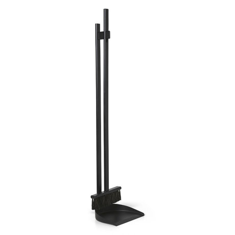 Ferm Living Set de balais Icon hêtre noir 23x21x103cm