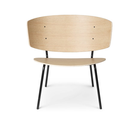Ferm Living Lounge stoel Herman naturel gekleurd eiken 68x60x68cm