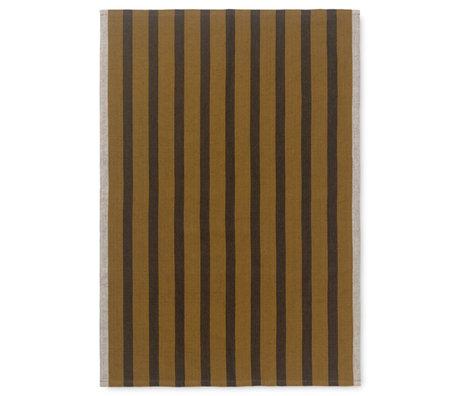 Ferm Living Geschirrtuch Hale brown Textil 50x70cm