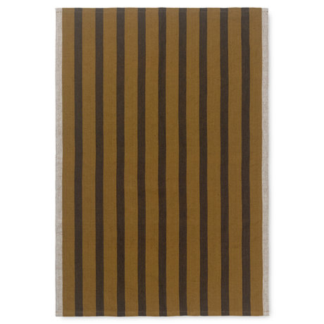 Ferm Living Tea towel Hale brown textile 50x70cm
