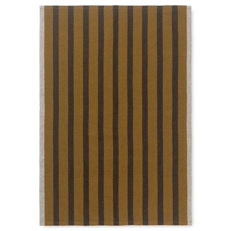 Ferm Living Theedoek Hale bruin textiel 50x70cm