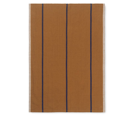 Ferm Living Theedoek Hale mosterdgeel textiel 50x70cm