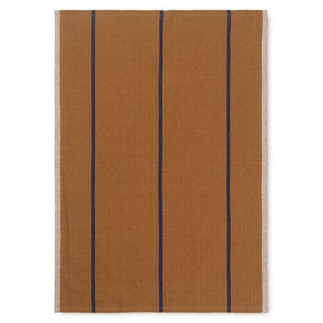 Ferm Living Tea towel Hale mustard yellow textile 50x70cm