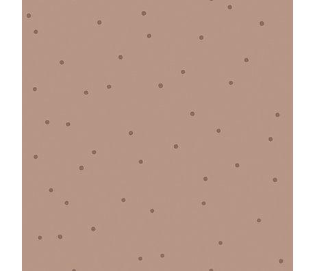 Ferm Living Papier peint Dot rose 10x0,53m