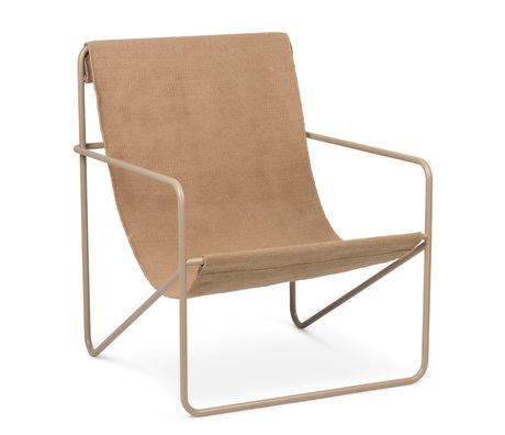 Ferm Living Loungesessel Desert Cashmere beige Sitz aus pulverbeschichtetem Stahl und Stoff Solid Cashmere beige 63x66.2x77.5cm