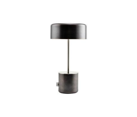 Housedoctor Lampe de table Bring acier noir antique Ø18x34cm