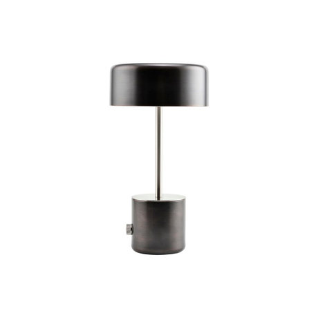 Housedoctor Tafellamp Bring antiek zwart staal Ø18x34cm