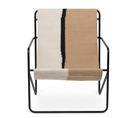 Ferm Living Fauteuil lounge Désert acier thermolaqué noir et assise tissu Soil 63x66.2x77.5cm