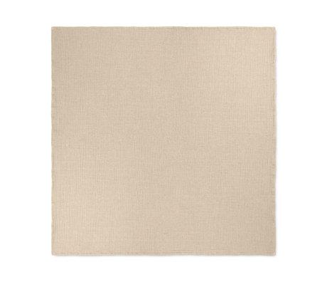 Ferm Living Couvre-lit Daze coton marron sable 240x250cm