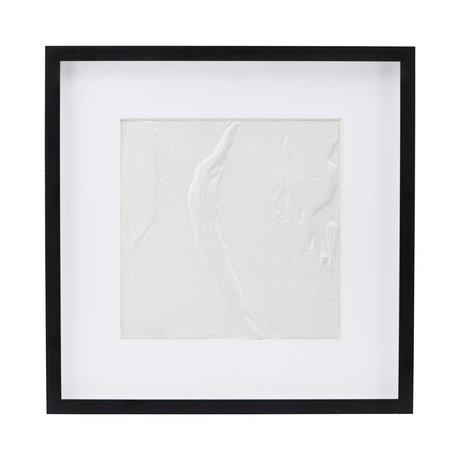 Housedoctor Affiche avec cadre Baou blanc papier noir MDF 50x50cm
