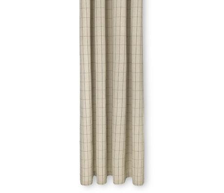 Ferm Living Rideau de douche Chambray coton brun sable 160x205cm